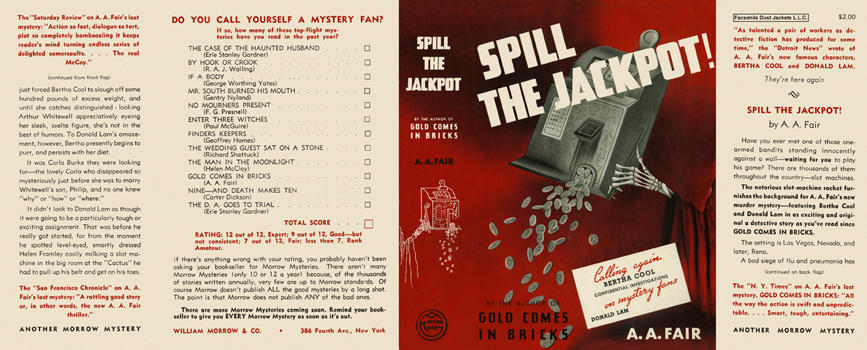 Spill the Jackpot. A. A. Fair