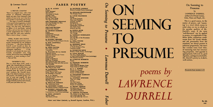 On Seeming to Presume. Lawrence Durrell