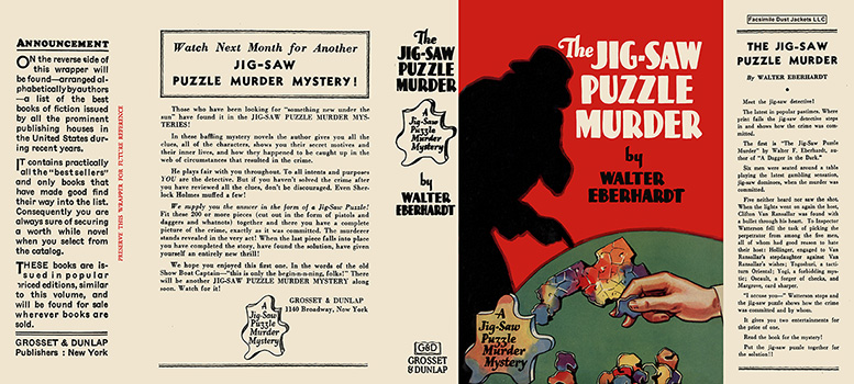 Jig-Saw Puzzle Murder, The. Walter F. Eberhardt.