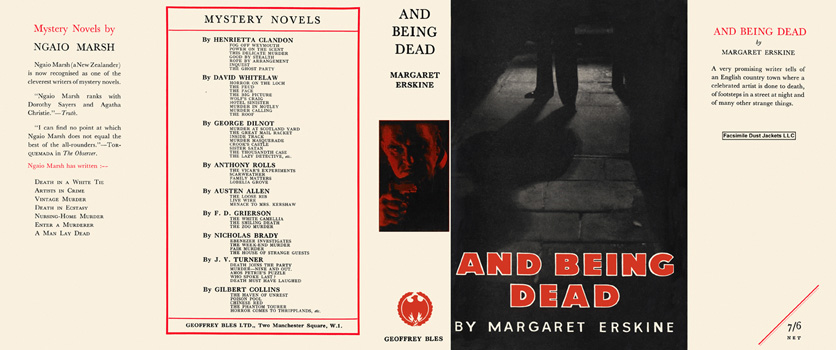 And Being Dead. Margaret Erskine.