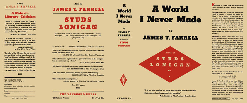 World I Never Made, A. James T. Farrell