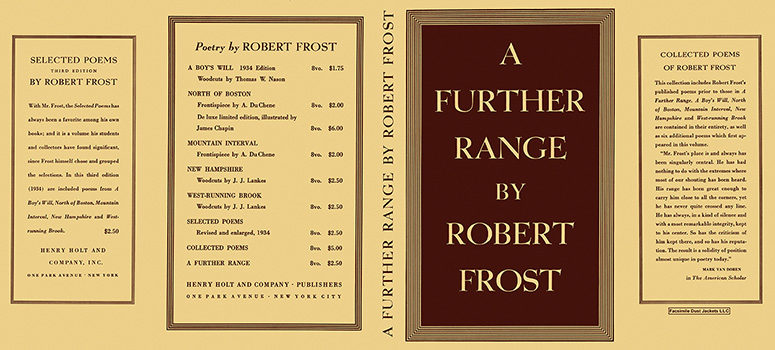 Further Range, A. Robert Frost