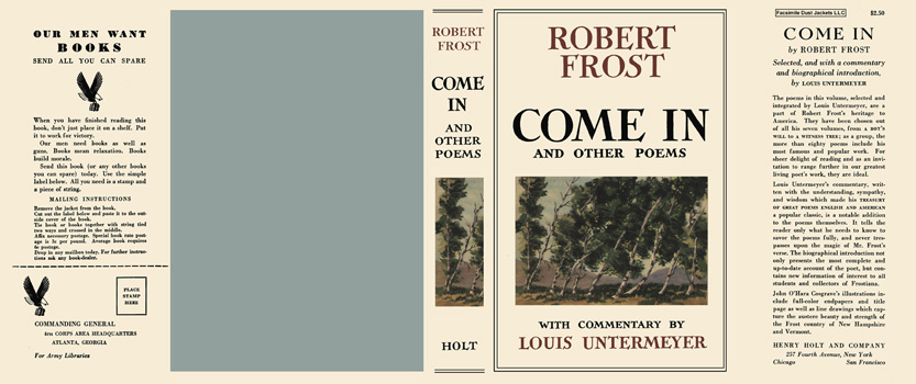 Come In and Other Poems. Robert Frost.