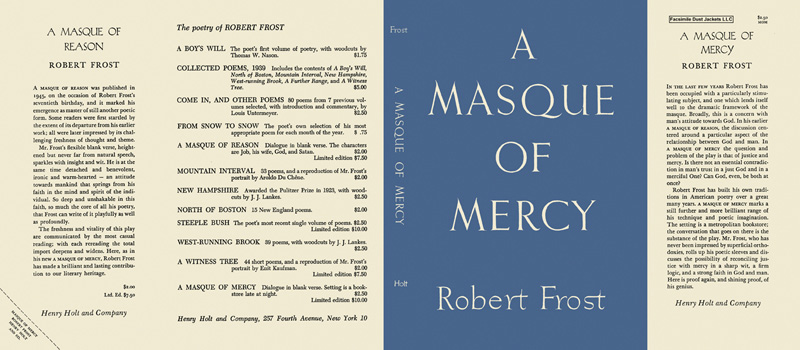 Masque of Mercy, A. Robert Frost