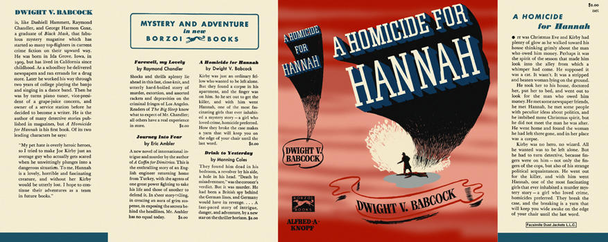 Homicide for Hannah, A. Dwight V. Babcock