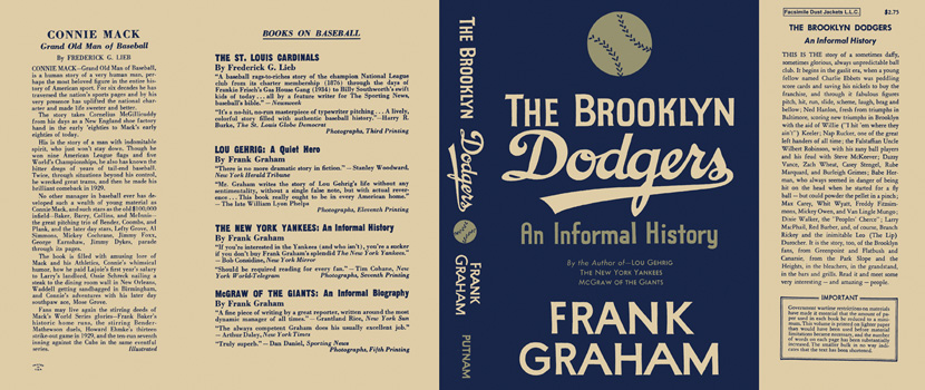 Brooklyn Dodgers, The. Frank Graham.
