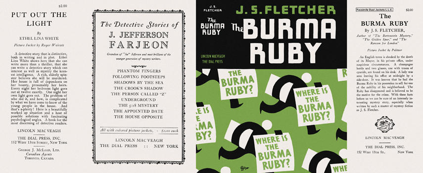 Burma Ruby, The. J. S. Fletcher