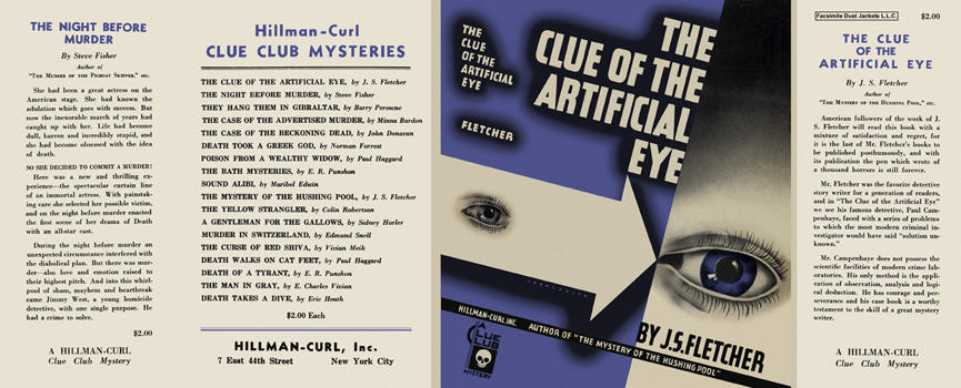 Clue of the Artificial Eye, The. J. S. Fletcher