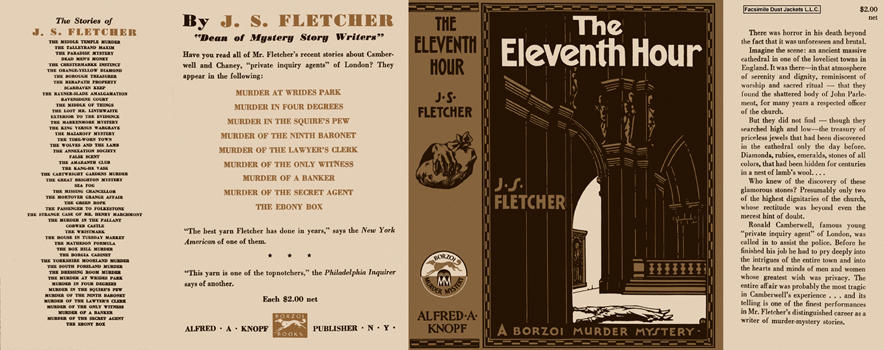 Eleventh Hour, The. J. S. Fletcher