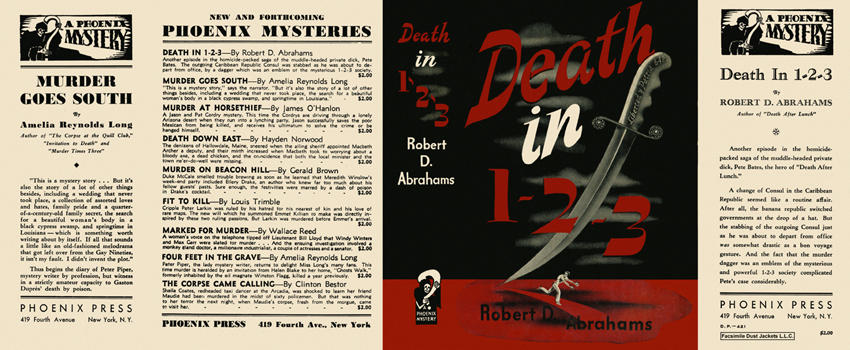 Death in 1-2-3. Robert D. Abrahams