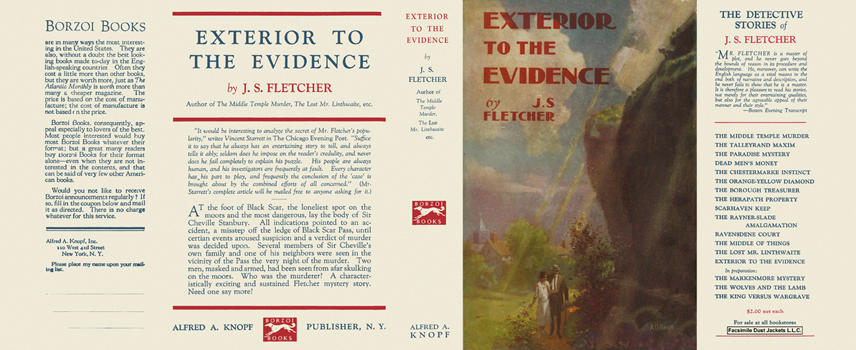 Exterior to the Evidence. J. S. Fletcher
