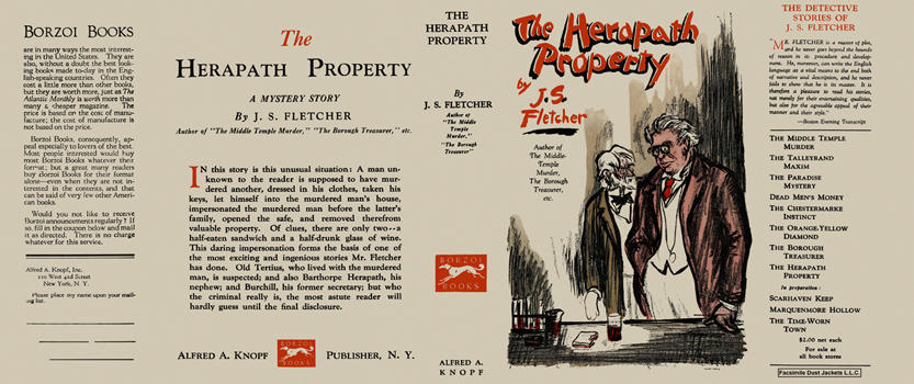 Herapath Property, The. J. S. Fletcher.