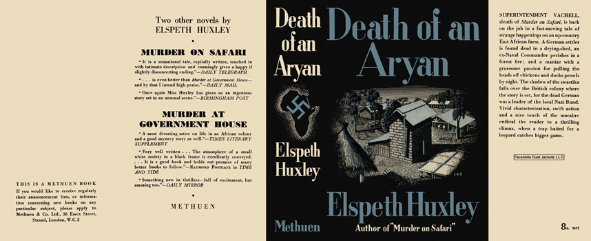 Death of an Aryan. Elspeth Huxley.