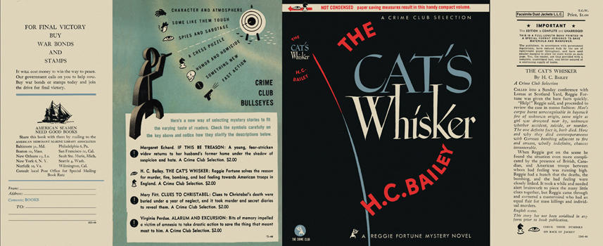 Cat's Whisker, The. H. C. Bailey