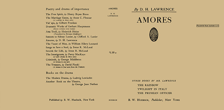 Amores. D. H. Lawrence.