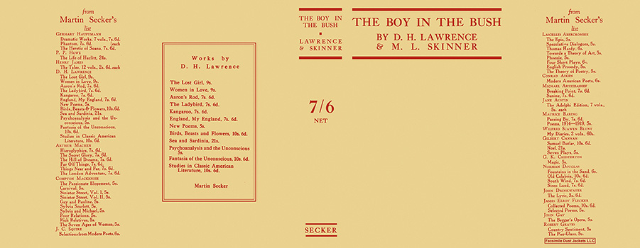 Boy in the Bush, The. D. H. Lawrence, M. L. Skinner.