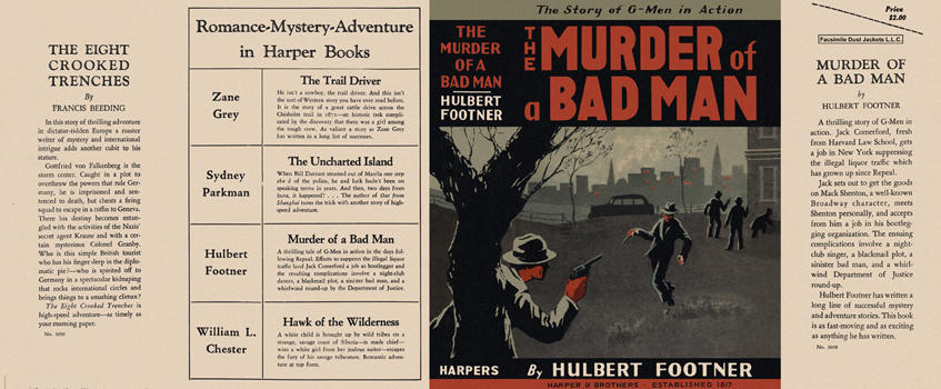 Murder of a Bad Man, The. Hulbert Footner