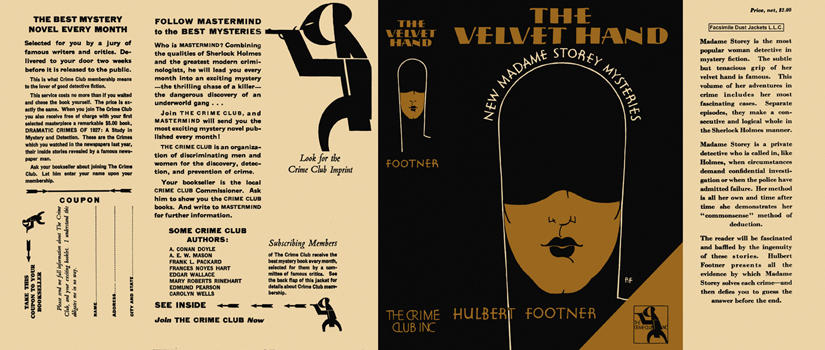 Velvet Hand, The. Hulbert Footner