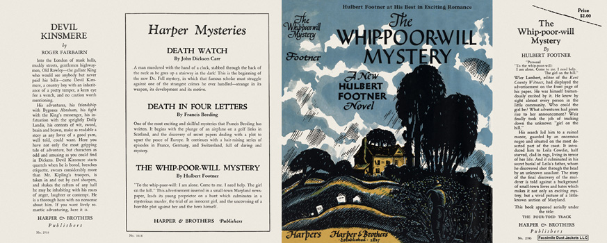 Whip-Poor-Will Mystery, The. Hulbert Footner.