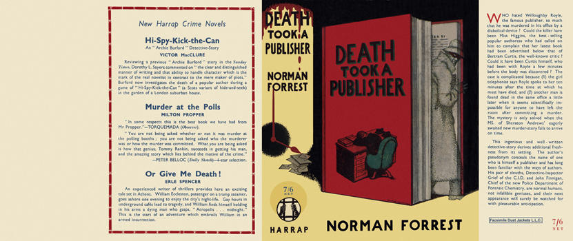 Death Took a Publisher. Norman Forrest.