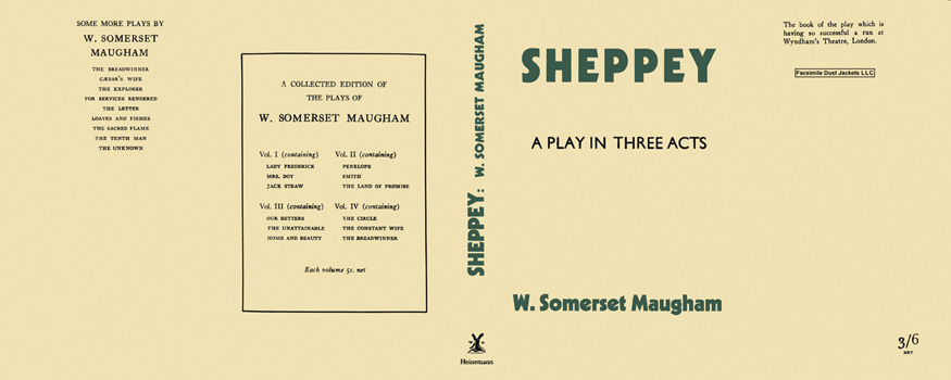 Sheppey, A Play in Three Acts. W. Somerset Maugham