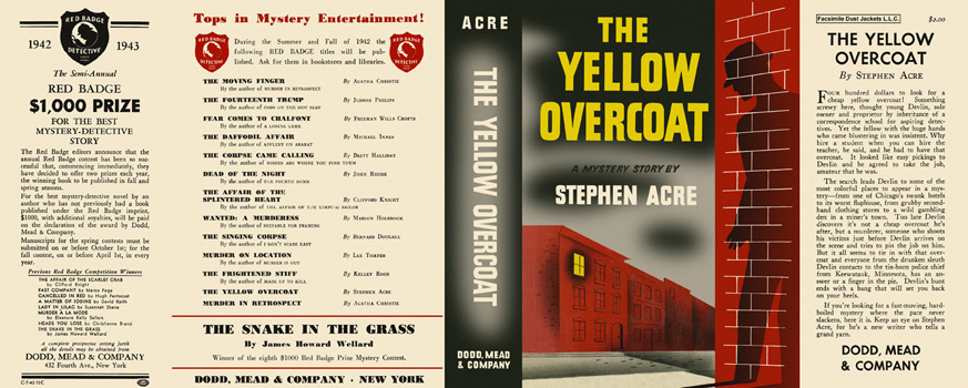 Yellow Overcoat, The. Stephen Acre.