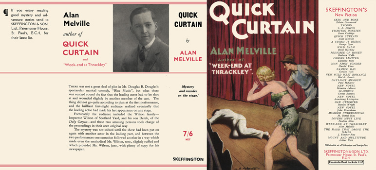 Quick Curtain. Alan Melville.