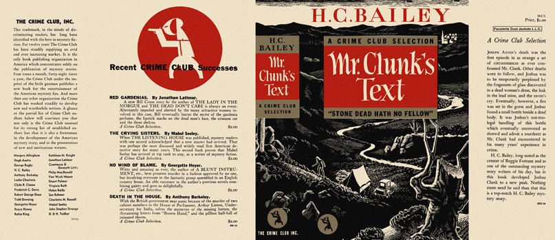 Mr. Clunk's Text. H. C. Bailey