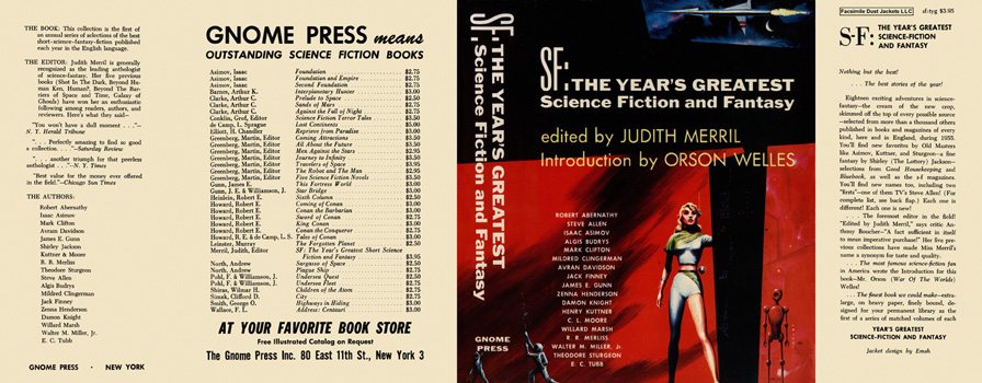 SF: The Year's Greatest Science Fiction and Fantasy. Judith Merril, , Anthology.