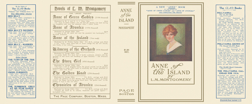 Anne of the Island. L. M. Montgomery.