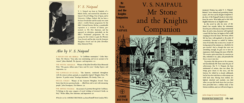 Mr. Stone and the Knights Companion. V. S. Naipaul.
