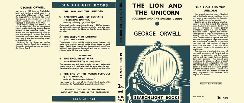 Lion and The Unicorn, The. George Orwell
