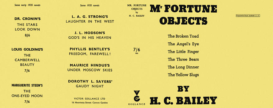 Mr. Fortune Objects. H. C. Bailey