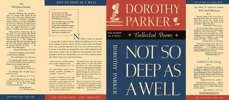 Not So Deep As a Well, Collected Poems. Dorothy Parker.