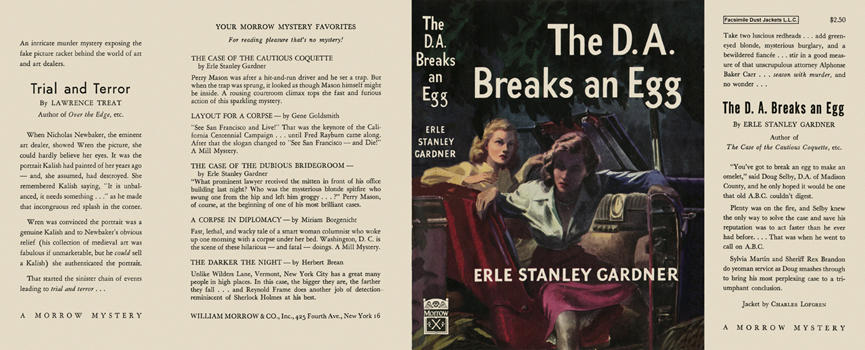 D. A. Breaks an Egg, The. Erle Stanley Gardner.