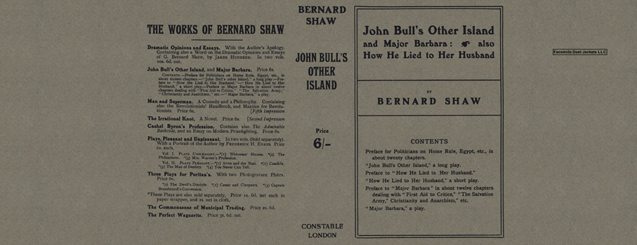 John Bull's Other Island and Major Barbara: Also How He Lied to Her Husband. George Bernard Shaw