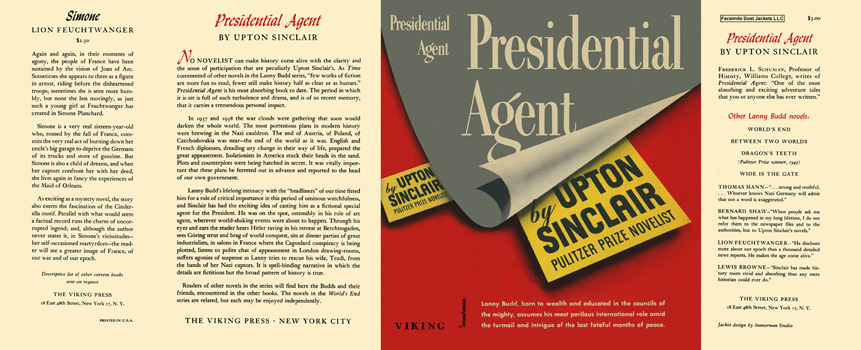 Presidential Agent. Upton Sinclair.