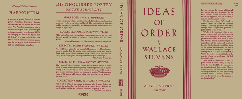 Ideas of Order. Wallace Stevens