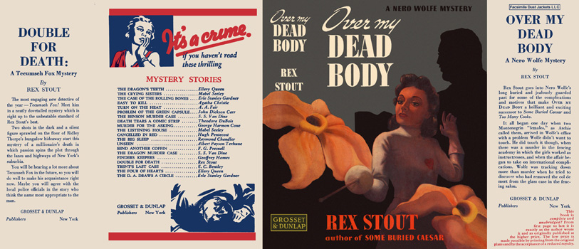 Over My Dead Body. Rex Stout.
