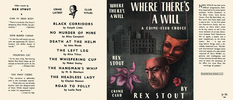 Where There's a Will. Rex Stout