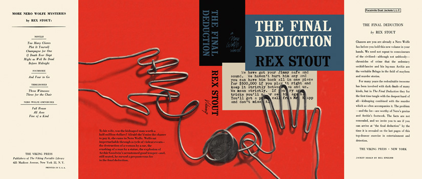 Final Deduction, The. Rex Stout.