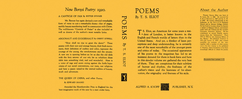 Poems. T. S. Eliot