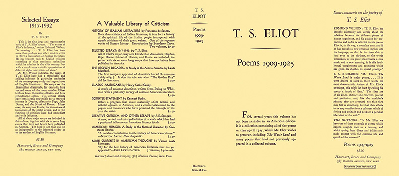 Poems 1909-1925. T. S. Eliot.