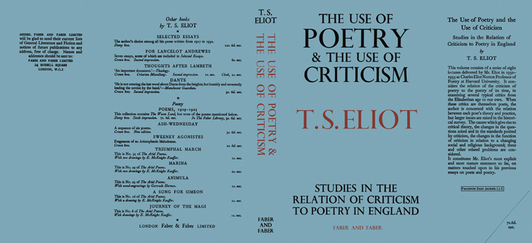 Use of Poetry and the Use of Criticism, The. T. S. Eliot