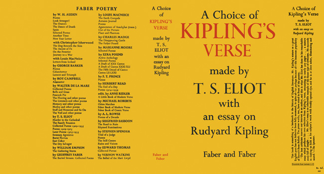 Choice of Kipling's Verse Made by T.S. Eliot with an Essay on Rudyard Kipling, A. T. S. Eliot