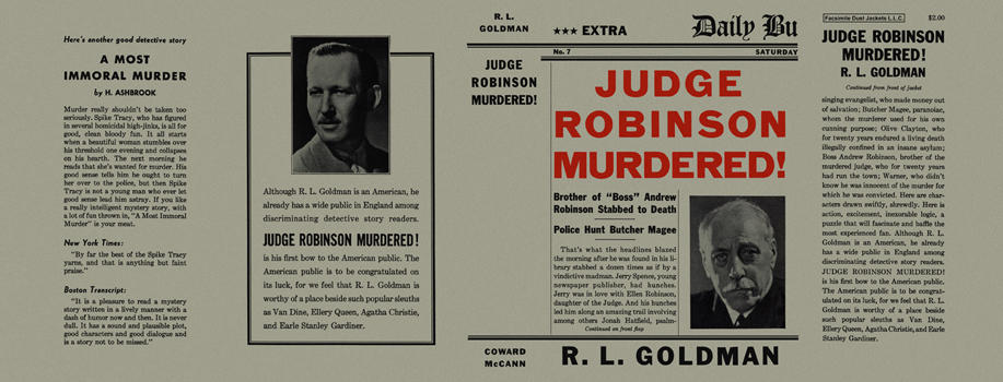 Judge Robinson Murdered! Raymond Leslie Goldman.
