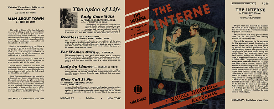 Interne, The. Wallace Thurman, Abraham L. Furman.