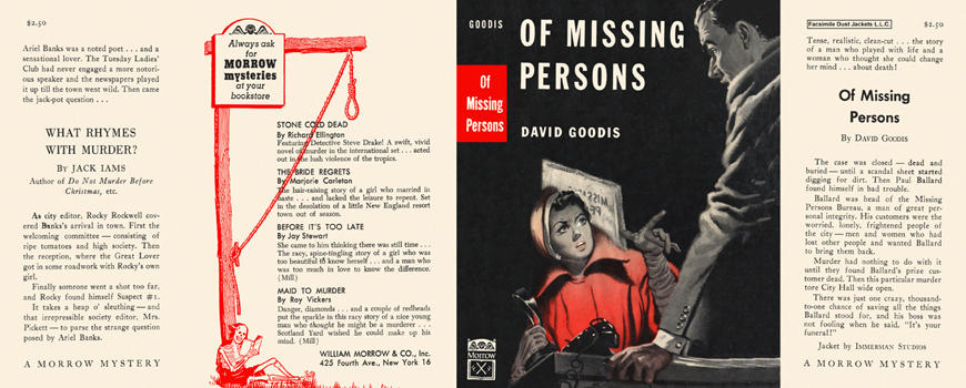Of Missing Persons. David Goodis.