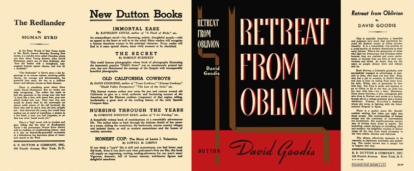 Retreat from Oblivion. David Goodis.