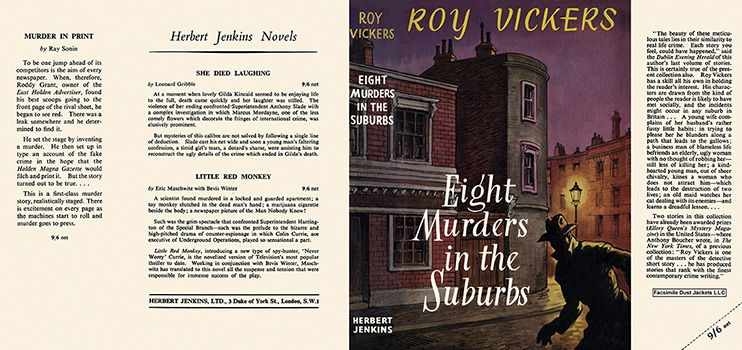 Eight Murders in the Suburbs. Roy Vickers.
